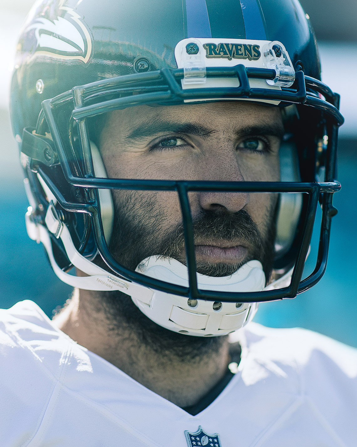 NFL quarterback Joe Flacco portrait