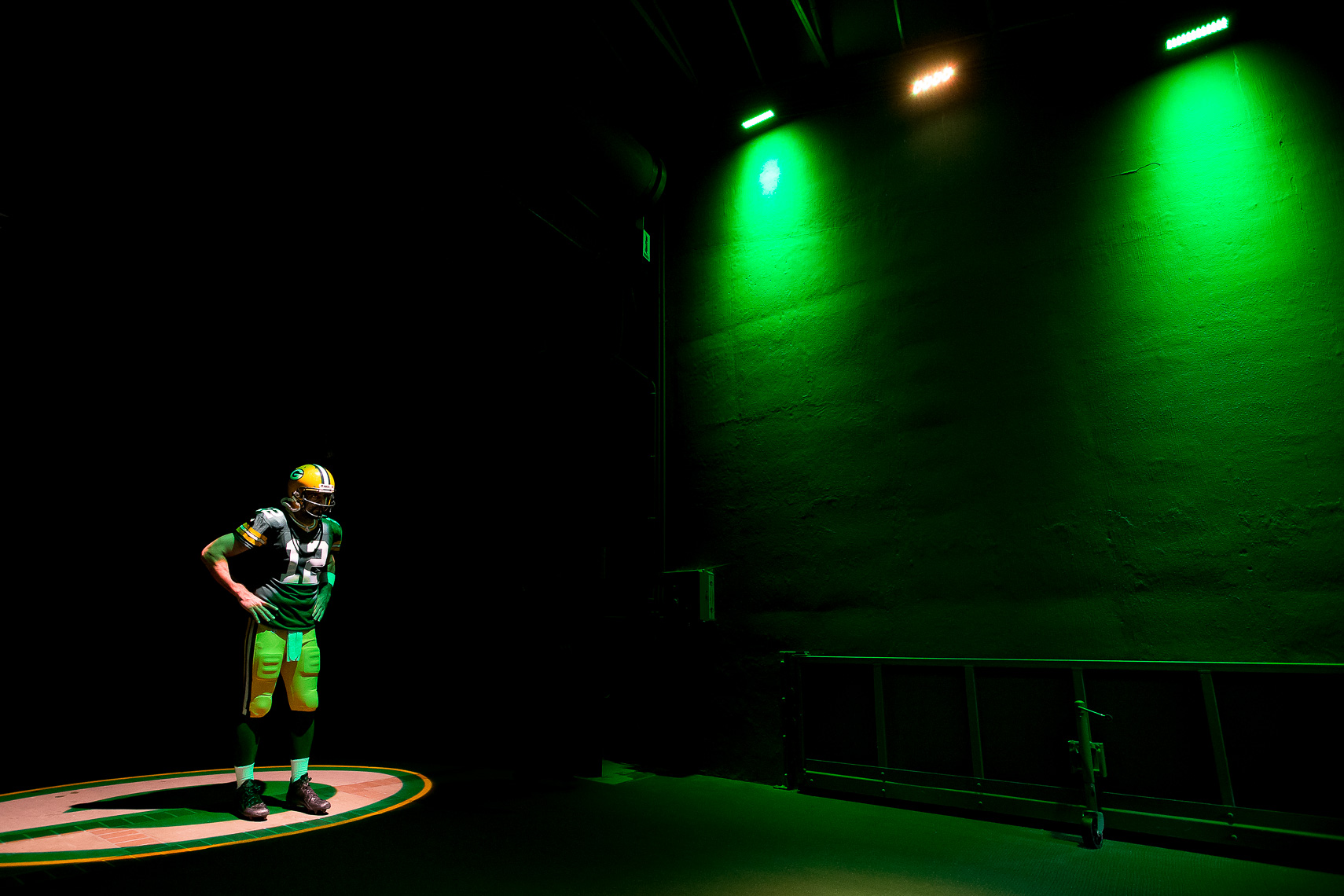 Best photos of the Green Bay Packers NFL football team wearing Nike football uniforms photographed by  commercial sports advertising photographer in maryland