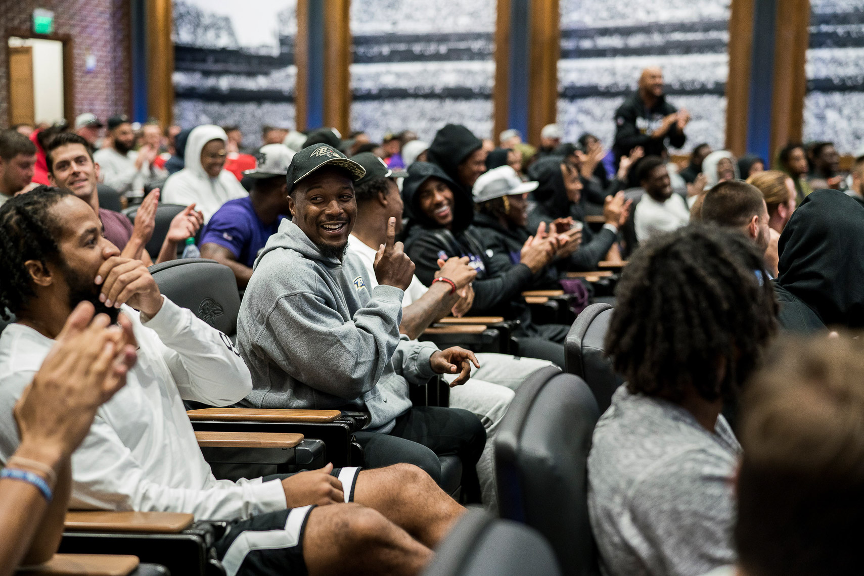 A day in the life of NFL training camp documentary story Baltimore photojournalist Shawn Hubbard