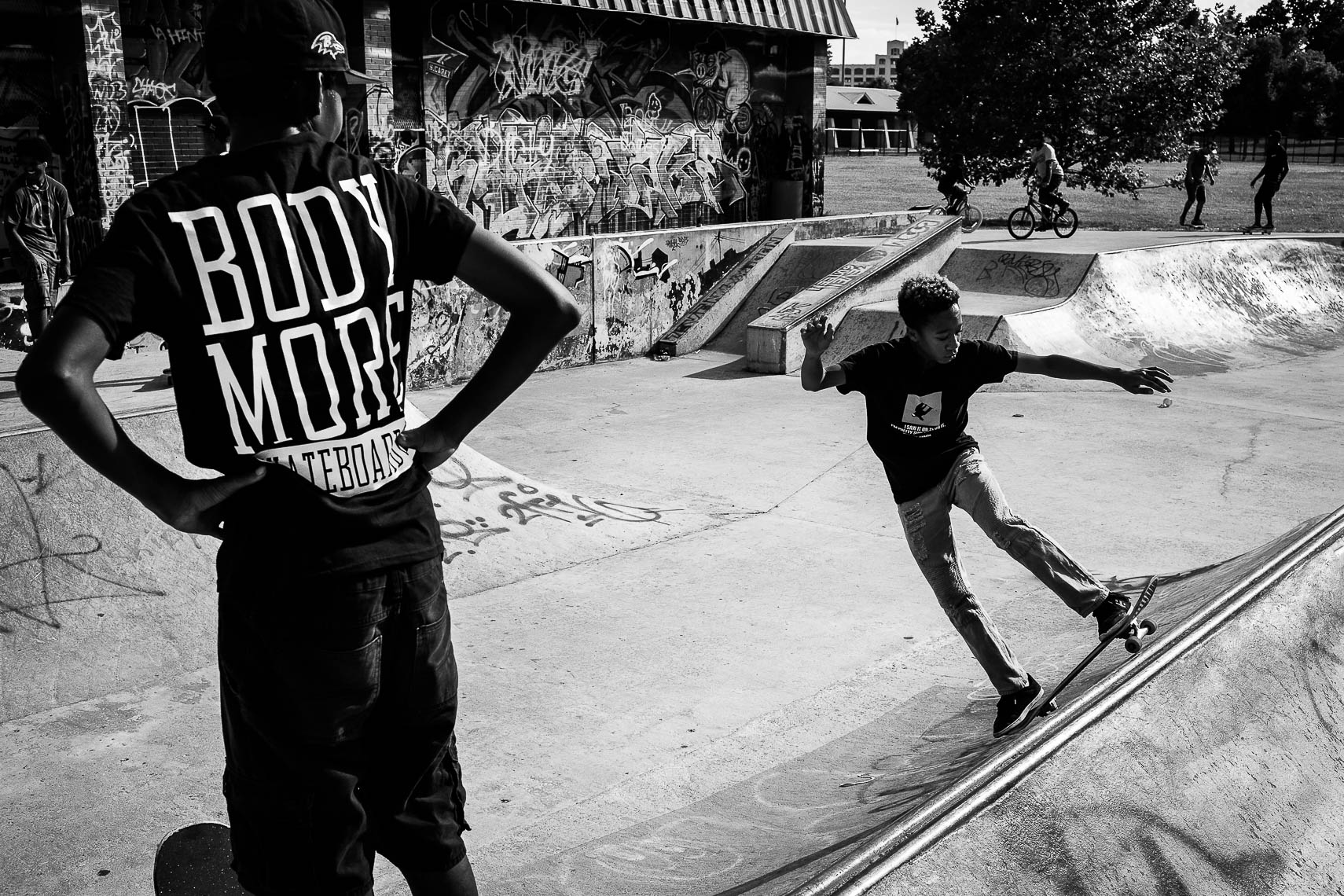 milksquad01_ Milksquad was a group of African American Baltimore youth skateboarders sponsored by Milkcrate Athletics NYC who skateboard in Baltimore city youth culture documentary photography project