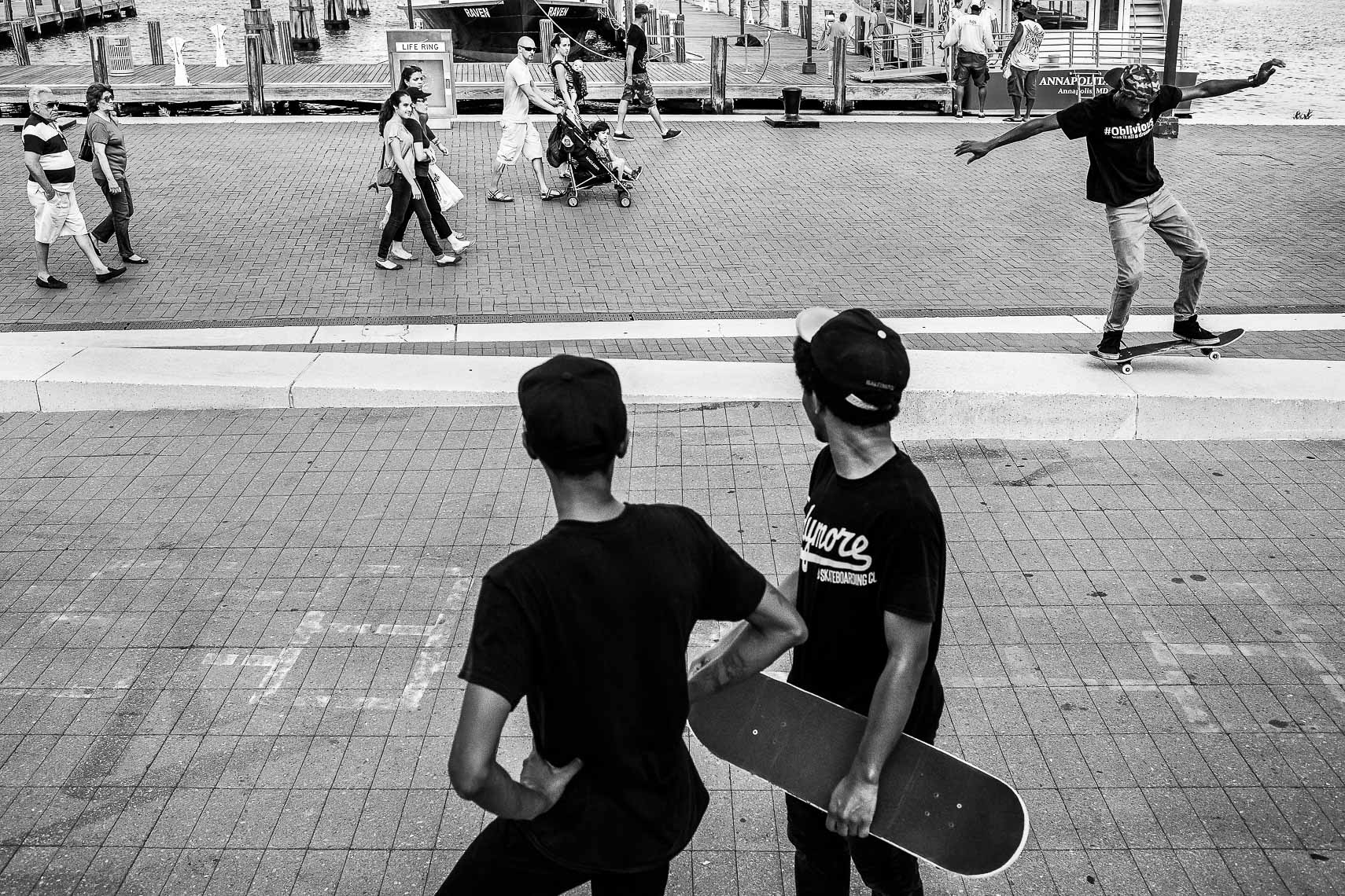milksquad03_Milksquad was a group of African American Baltimore youth skateboarders sponsored by Milkcrate Athletics NYC who skateboard in Baltimore city youth culture documentary photography project