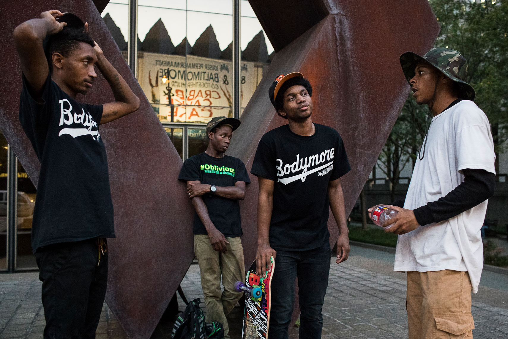 milksquad10_Milksquad was a group of African American Baltimore youth skateboarders sponsored by Milkcrate Athletics NYC who skateboard in Baltimore city youth culture documentary photography project