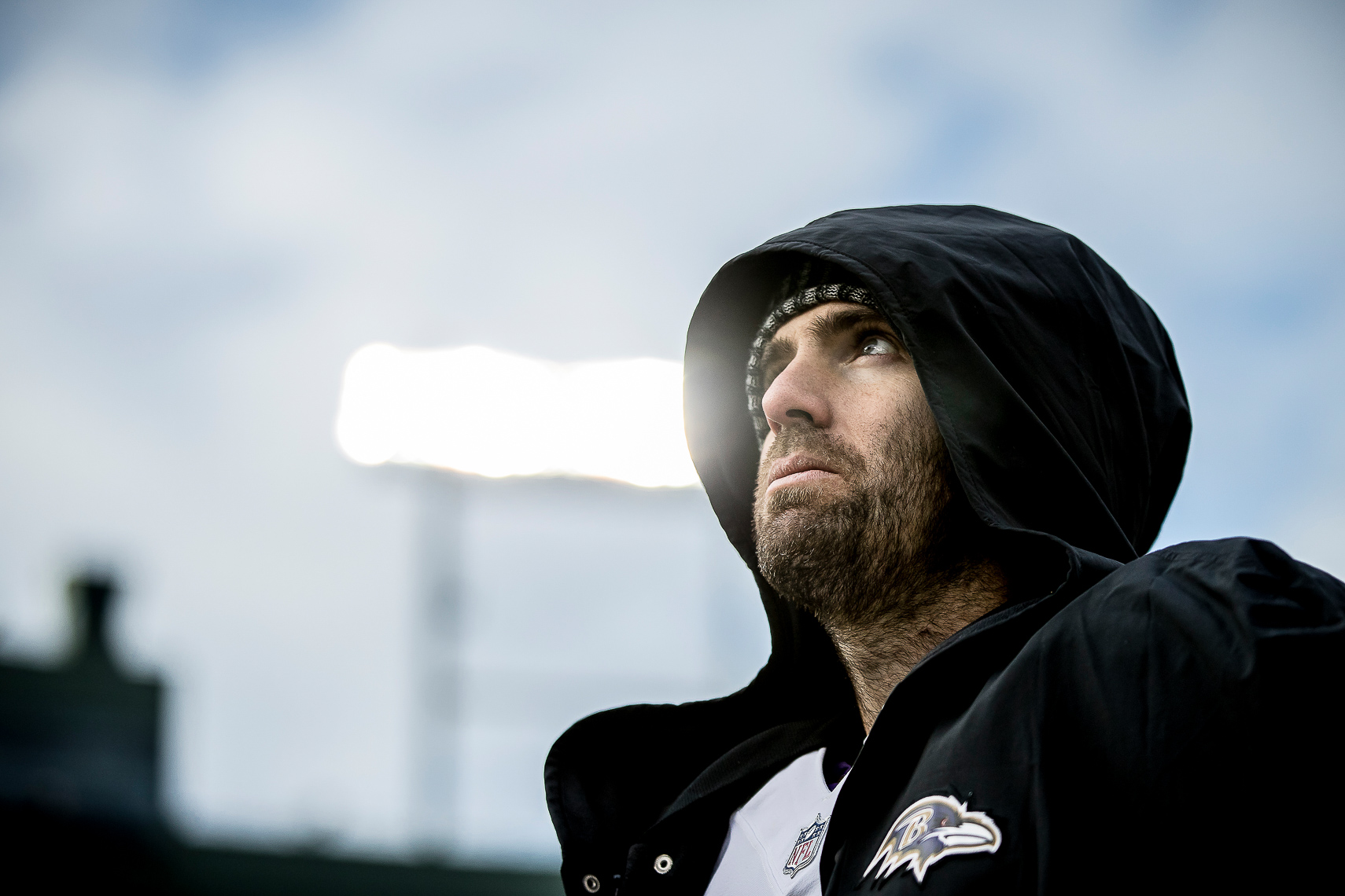 ravens10  NFL Baltimore Ravens photos NFL behind the scenes documentary sports photographer photo of quarterback Joe Flacco Super Bowl MVP