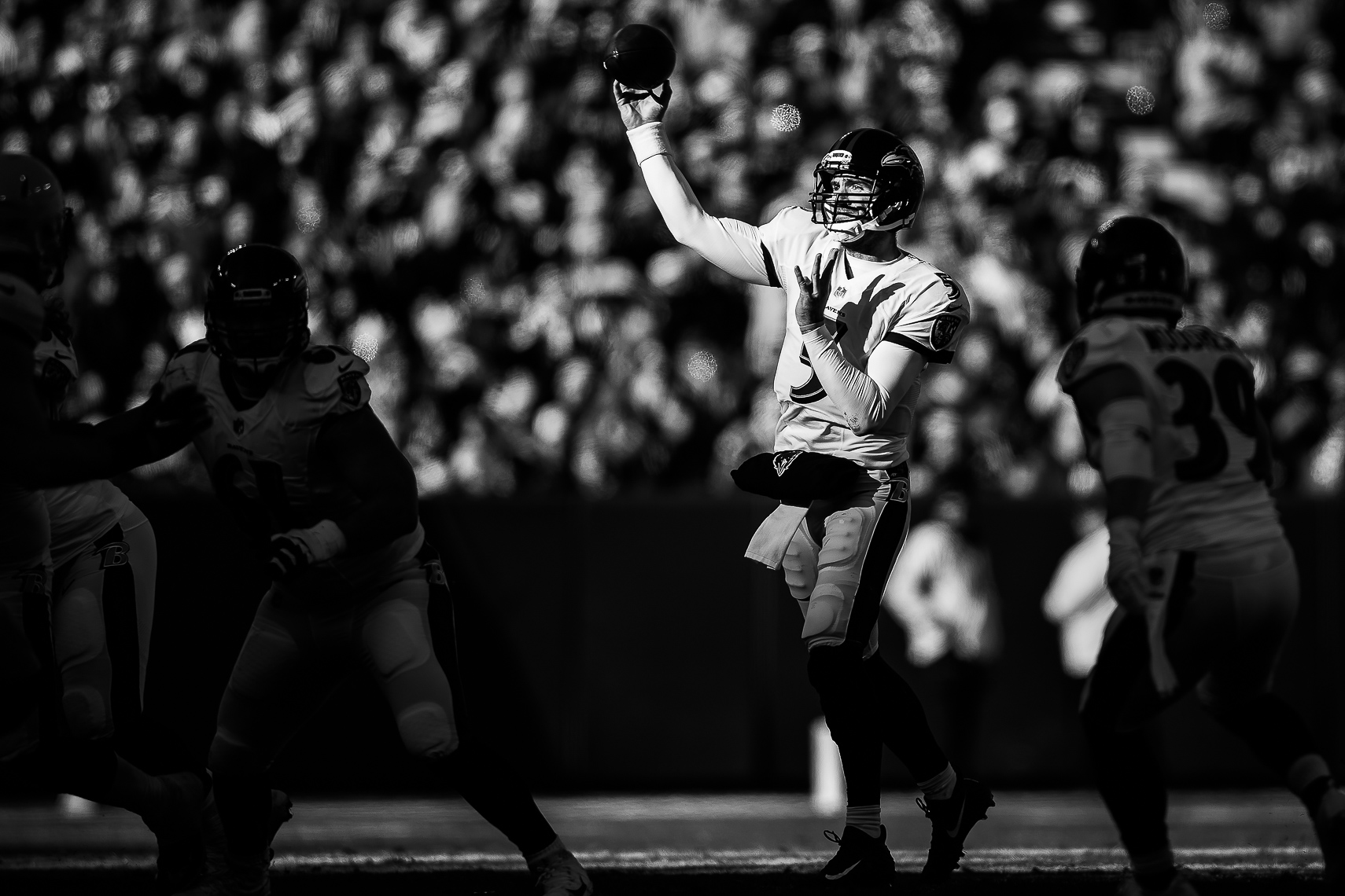 ravens11  NFL Baltimore Ravens photos NFL behind the scenes documentary sports photographer photo of quarterback Joe Flacco Super Bowl MVP