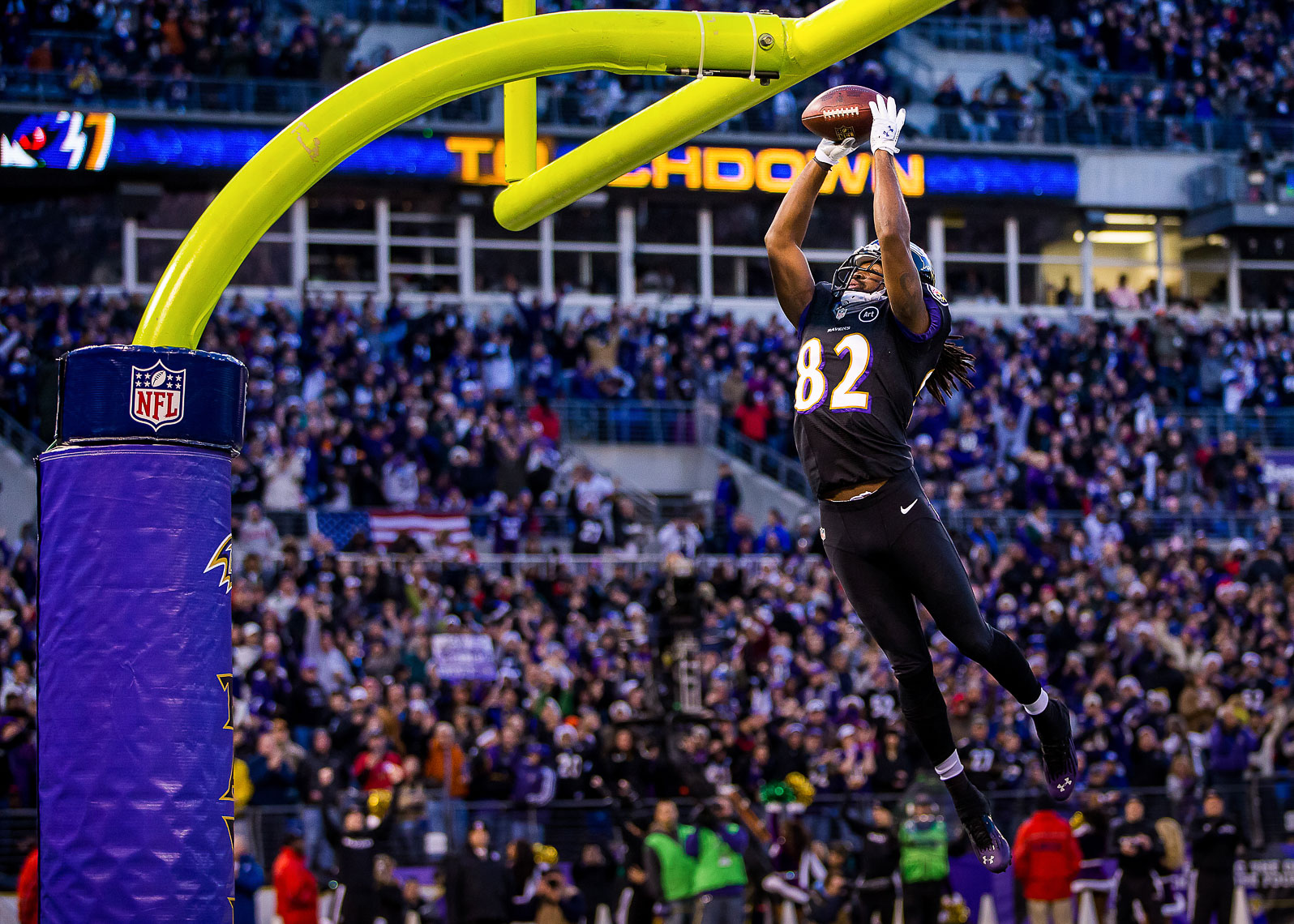 ravens34  NFL Baltimore Ravens photos NFL behind the scenes documentary sports photographer photo of Torrey Smith NFL touchdown celebration