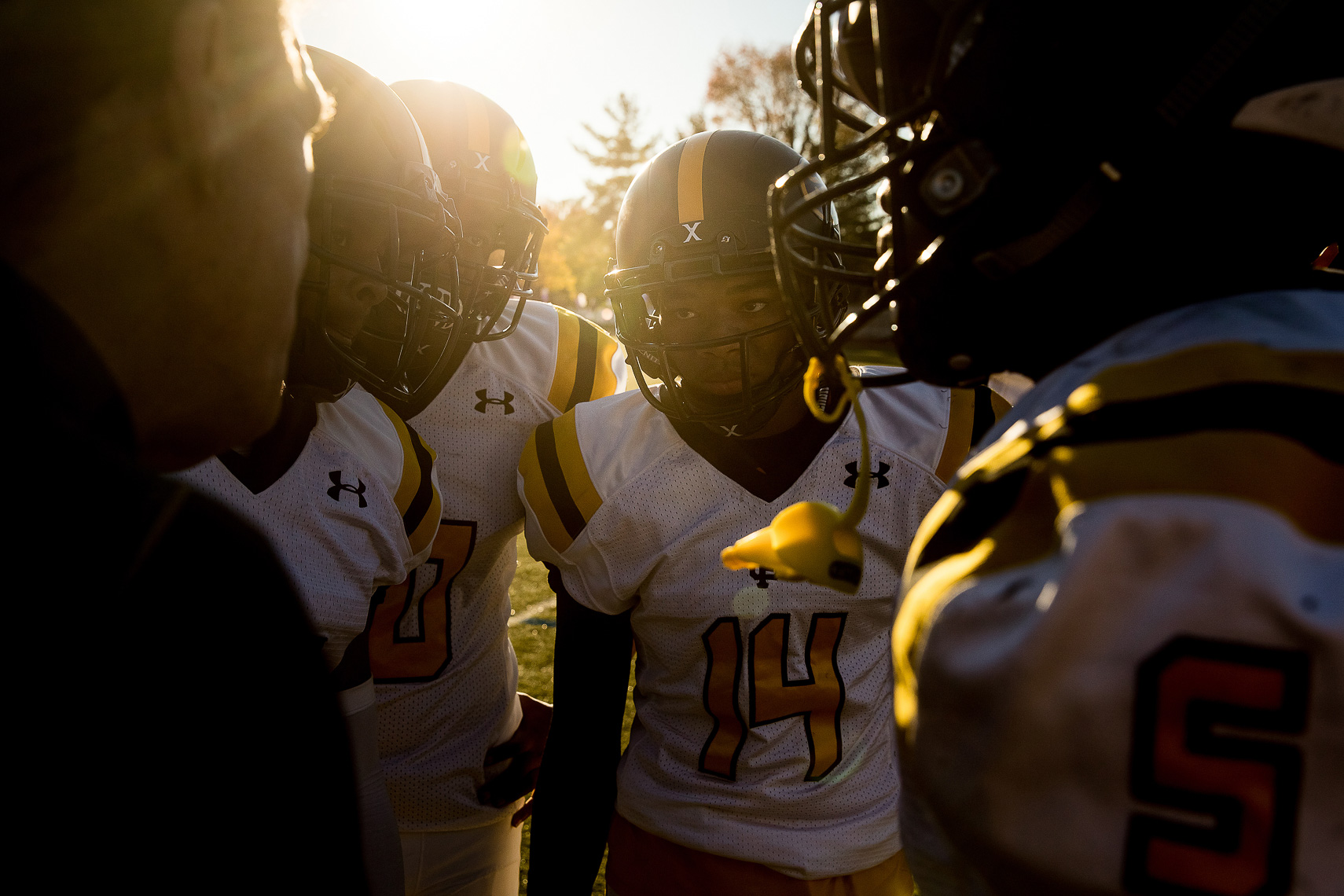 stfrances14_ St Frances Academy Panthers football Baltimore City poverty ESPN documentary MIAA Champions youth football team coached by former Gilman and Michigan football coach Biff Poggi Under Armour football photography