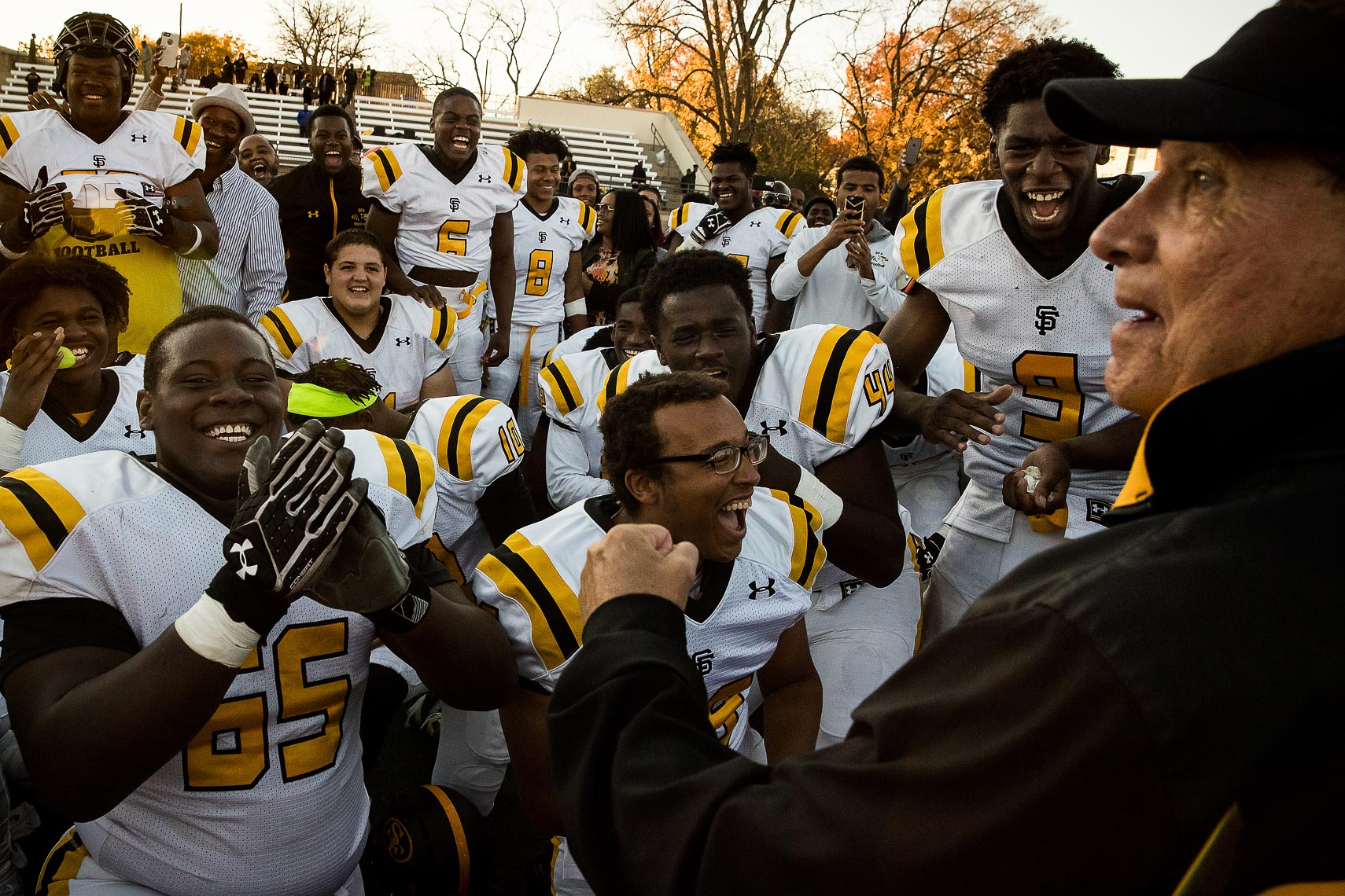 stfrances18_ St Frances Academy Panthers football Baltimore City poverty ESPN documentary MIAA Champions youth football team coached by former Gilman and Michigan football coach Biff Poggi