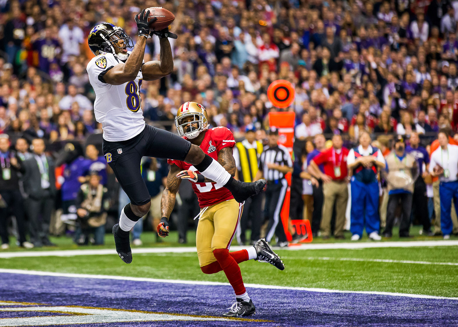 superbowl35_  Best Super Bowl XLVII 47 photos between Baltimore Ravens and 49ers Harbaugh Bowl Anquan Boldin touchdown