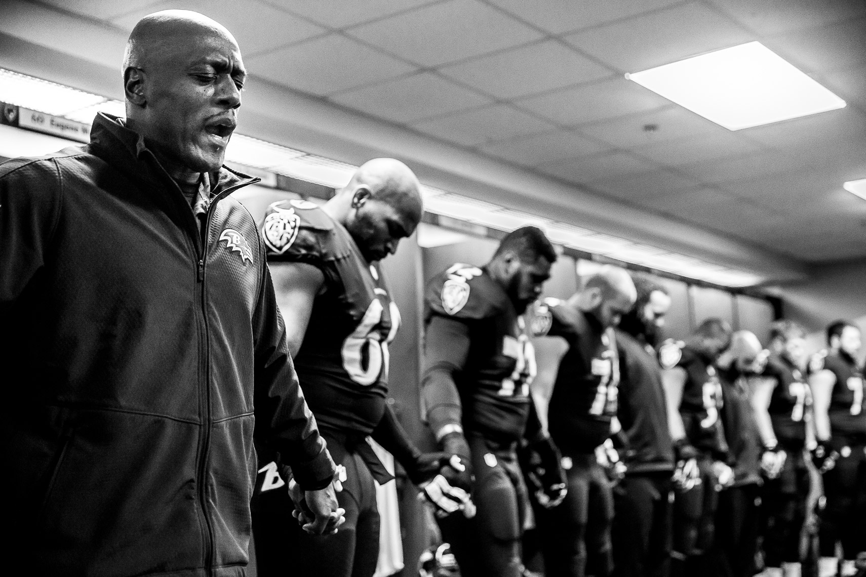 teamchaplain02_ NFL behind the scenes Baltimore Ravens team chaplain Johnny Shelton by Baltimore  area photojournalist reportage documentary sports photographer