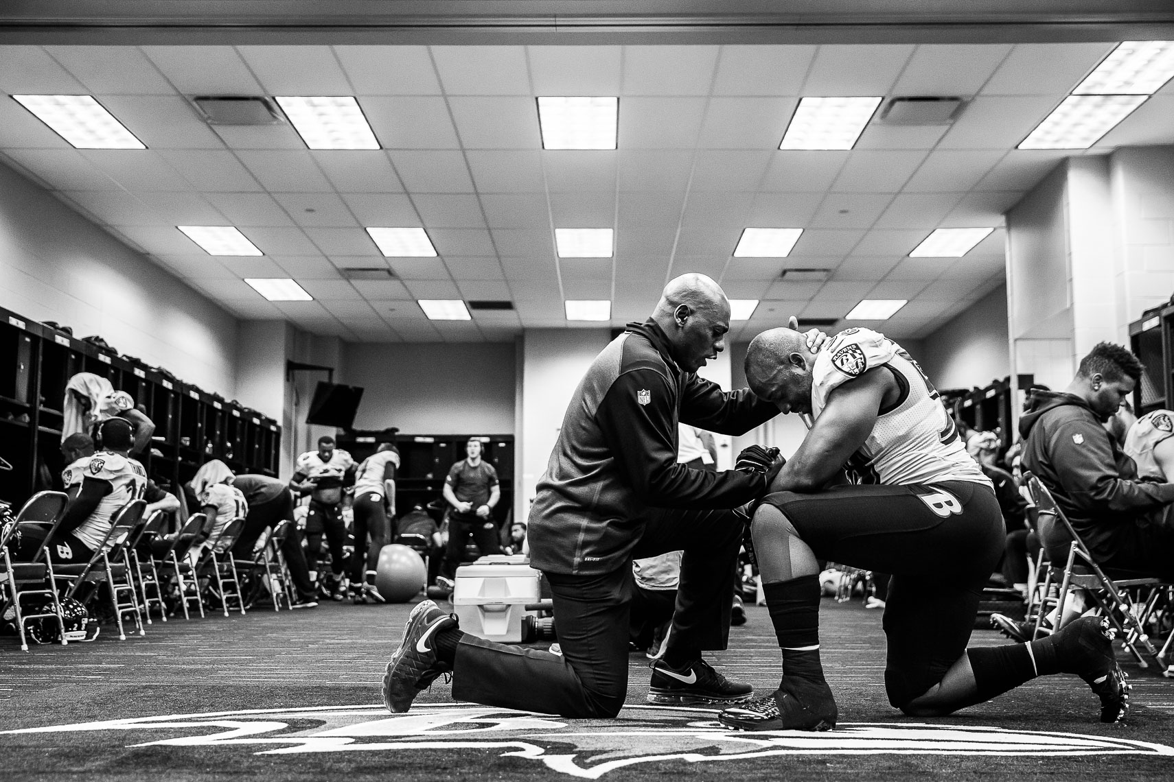 teamchaplain21_ NFL behind the scenes Baltimore Ravens team chaplain Johnny Shelton by Baltimore  area photojournalist reportage documentary sports photographer